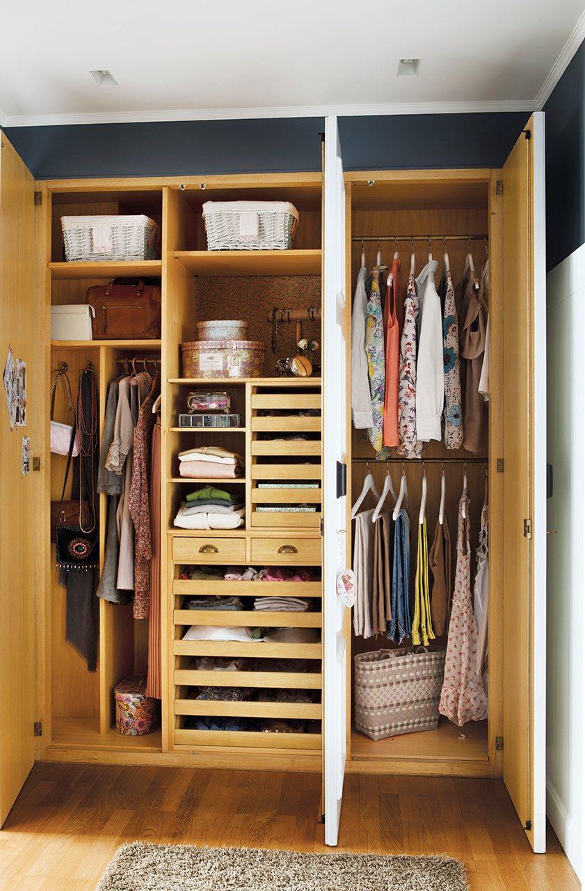 Reorganiza tu armario y gana espacio y comodidad - Como revestir un armario ...