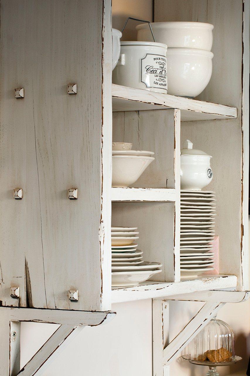 Muebles blanco decapado mueble de entrada blanco decapado - Muebles de entrada vintage ...