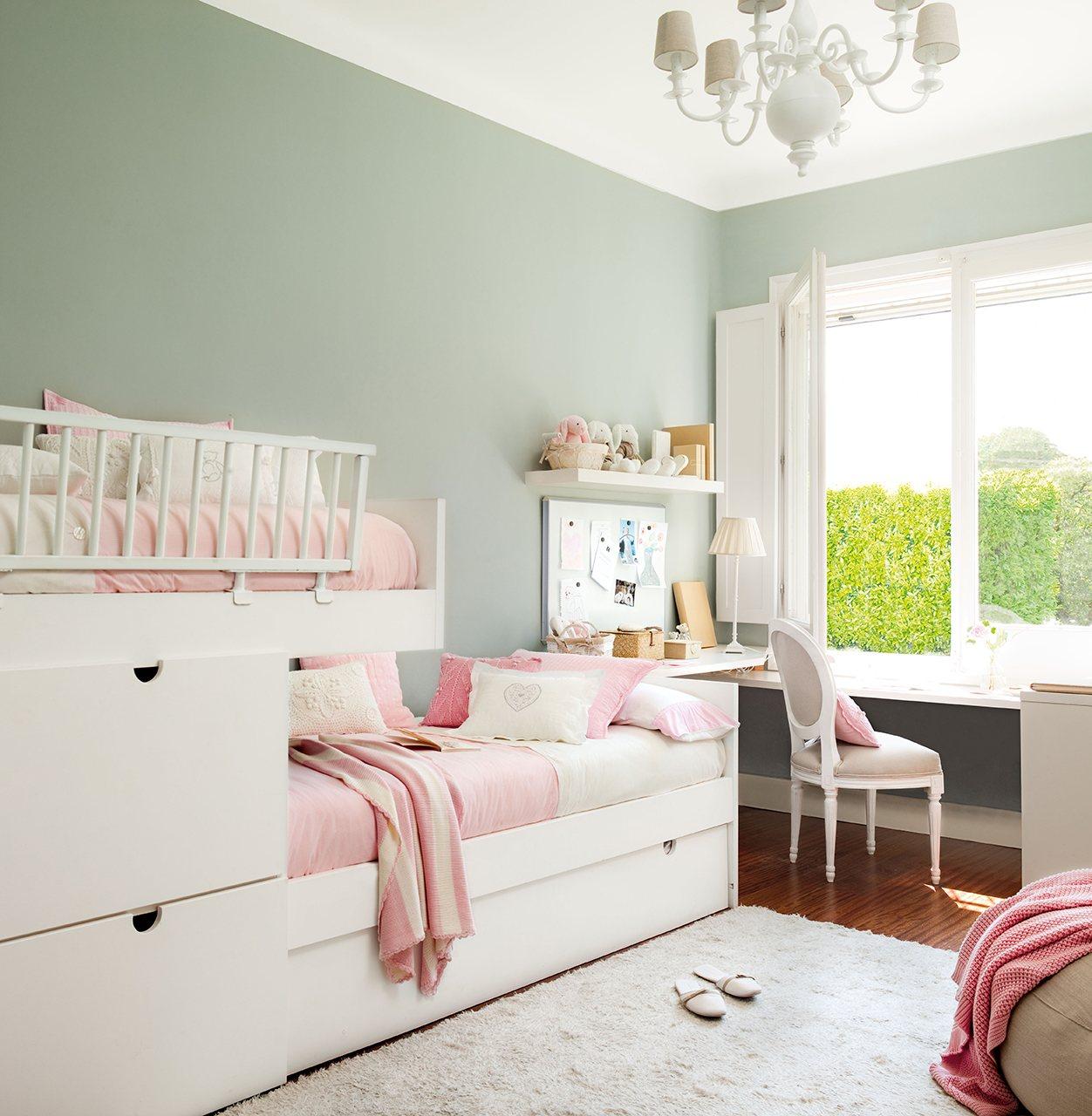 10 habitaciones de ni os con orden for Dormitorios para 4 ninas