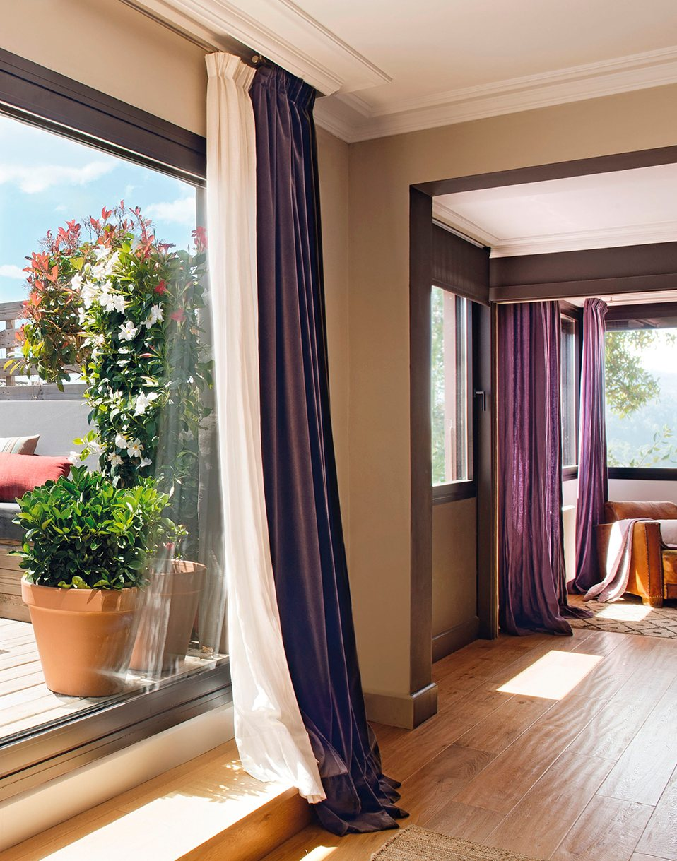 Gu a r pida para acertar con las cortinas for Cortinas de visillo para salon