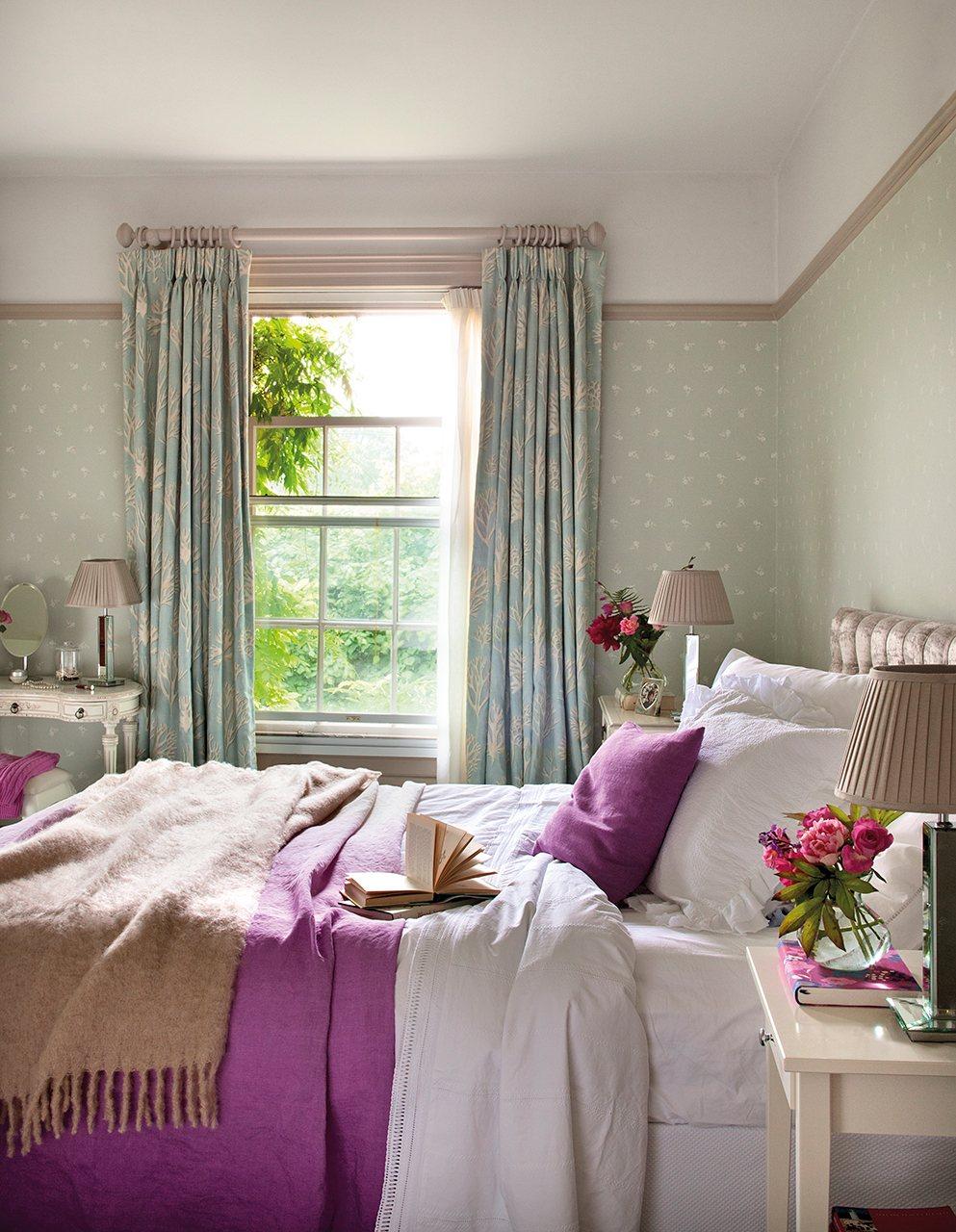 Una vida entre telas for Dormitorio verde agua