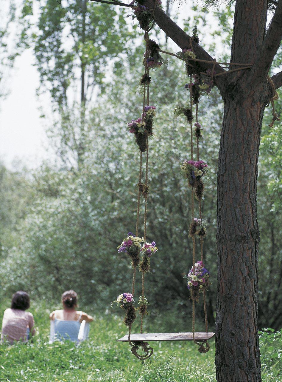 Arbol Cortado Decorado Jardin