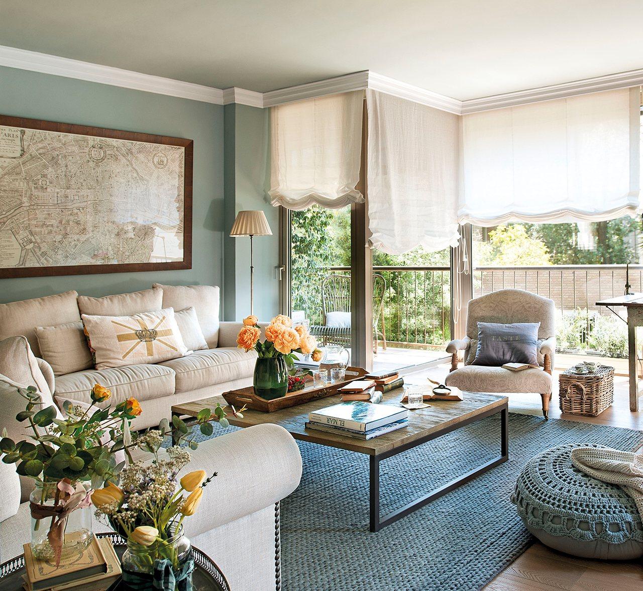 Una reforma muy pr ctica para una familia numerosa - Color paredes para muebles oscuros ...