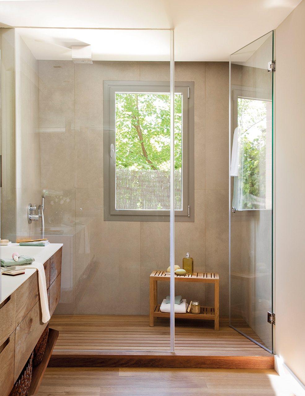Baño Pequeno Mampara:Estira los metros y que no te falte de nada