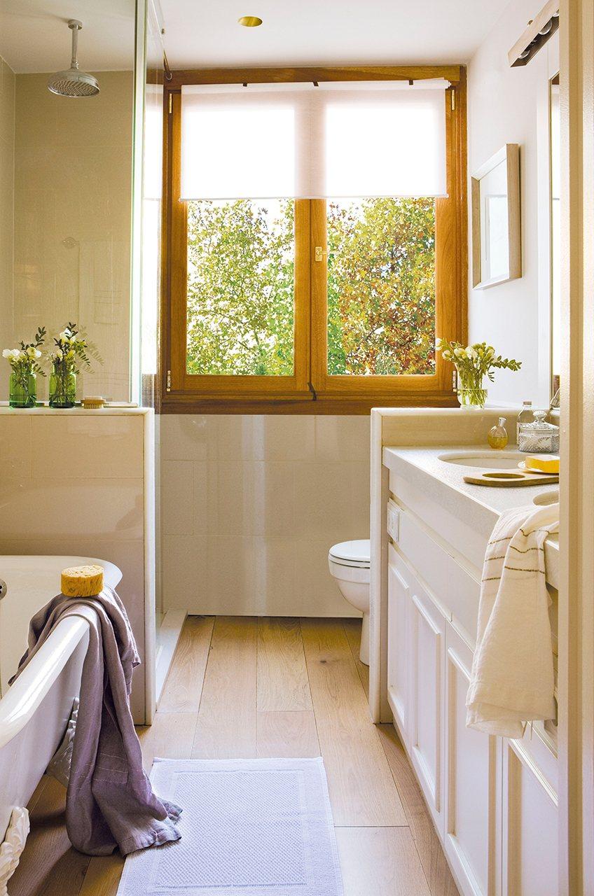 Ideas para que tu ba o sea m s confortable y acogedor for Banos pequenos con banera