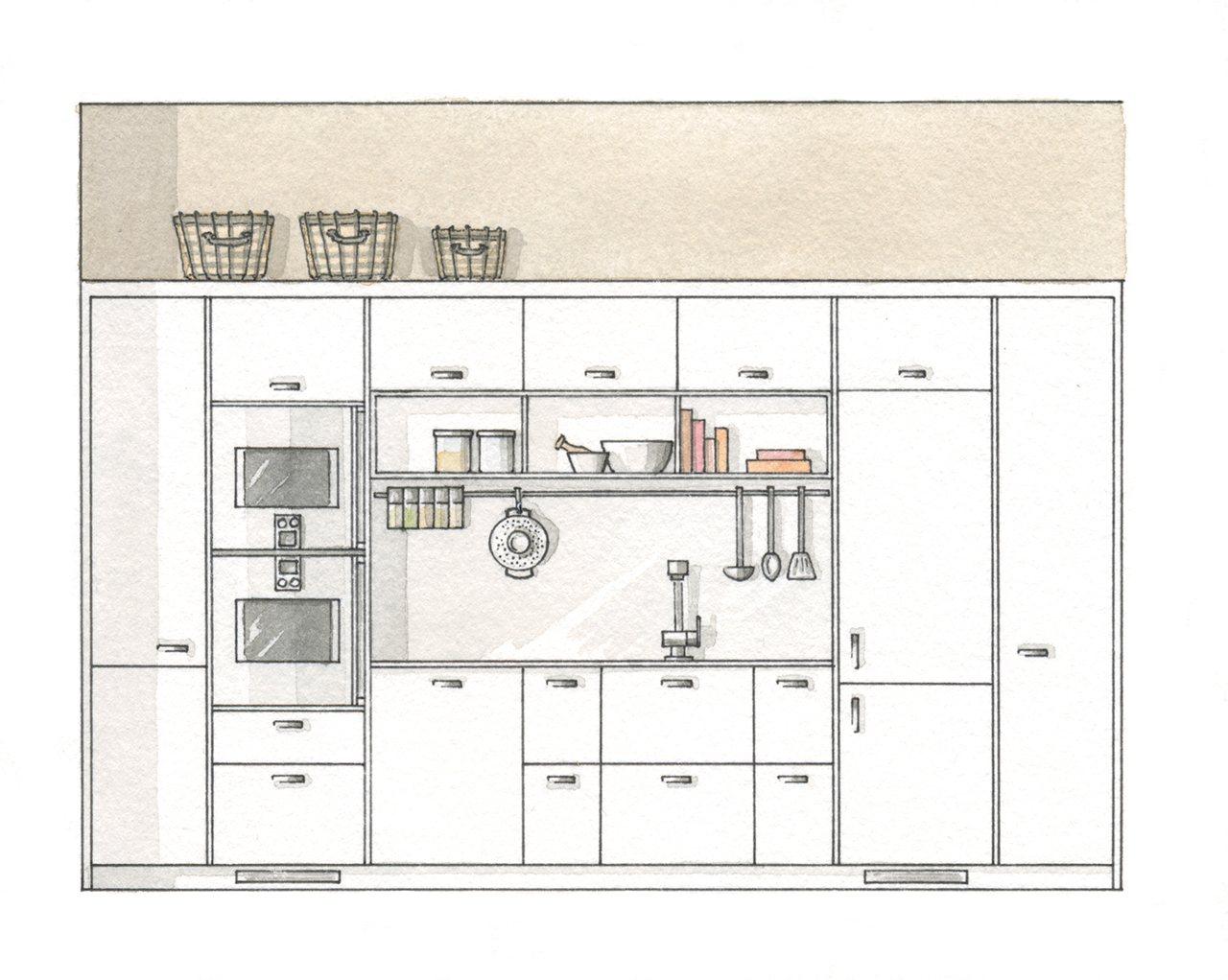 Estira los metros y que no te falte de nada for Plano de cocina de 9m2