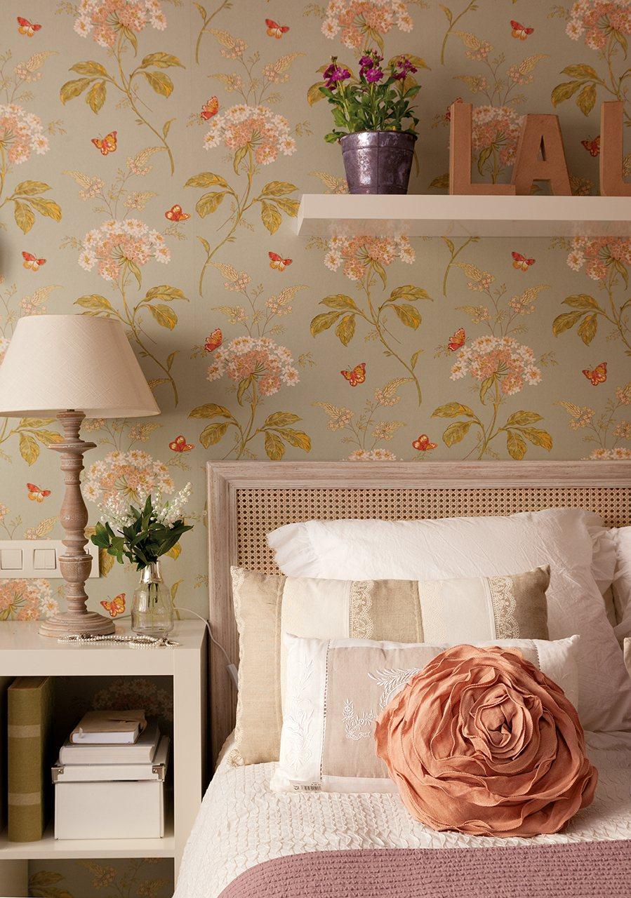 Casa de madrid reformada y decorada con papel pintado - Casas decoradas con papel pintado ...