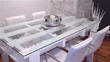 Mi creacion de palet mesas de comedor - Comprar muebles con palets ...