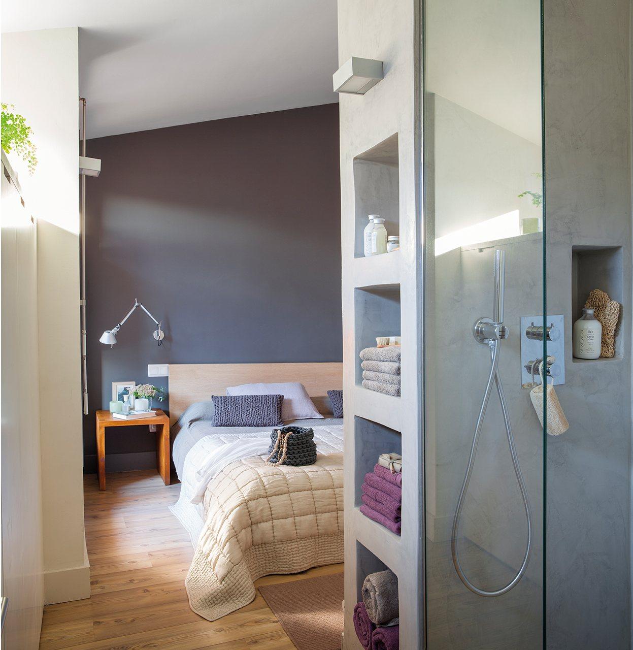 Una reforma 10 de desv n a suite con ba o y vestidor - Como reformar un cuarto de bano ...