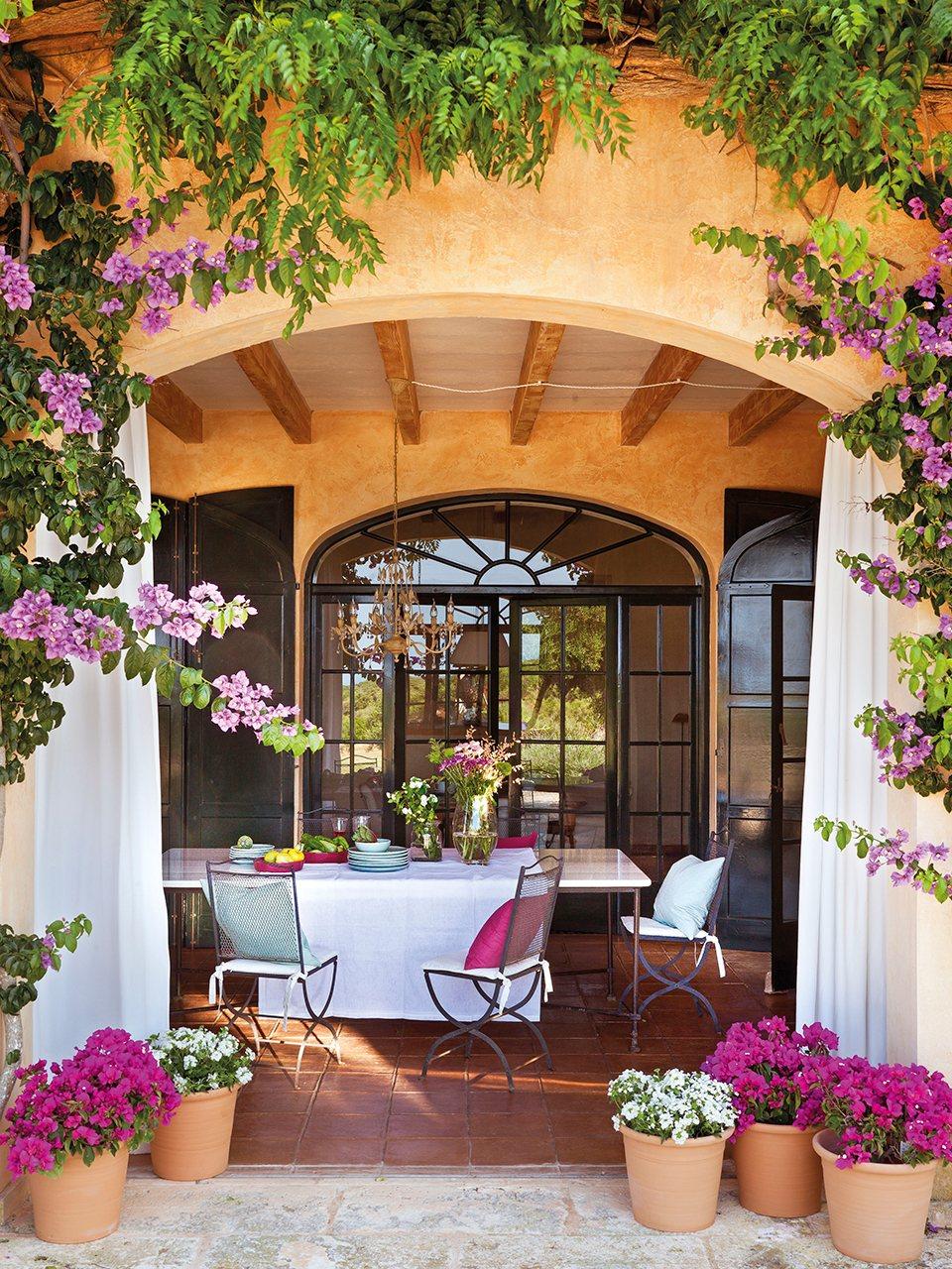 5 comedores de verano - Ideas para decorar el porche de la casa ...