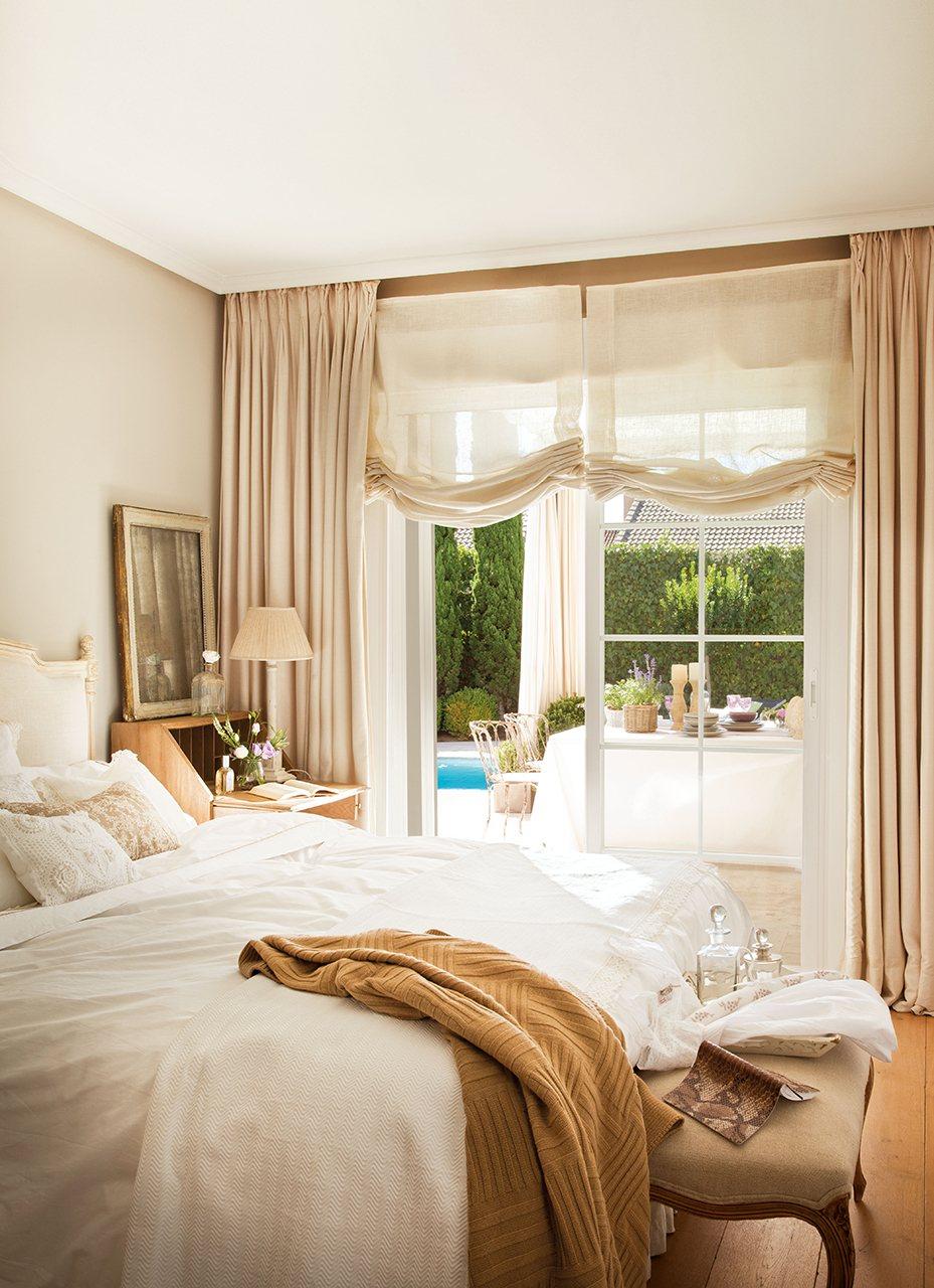Grandes ideas para los dormitorios peque os m s bonitos - Cortinas en dormitorios ...