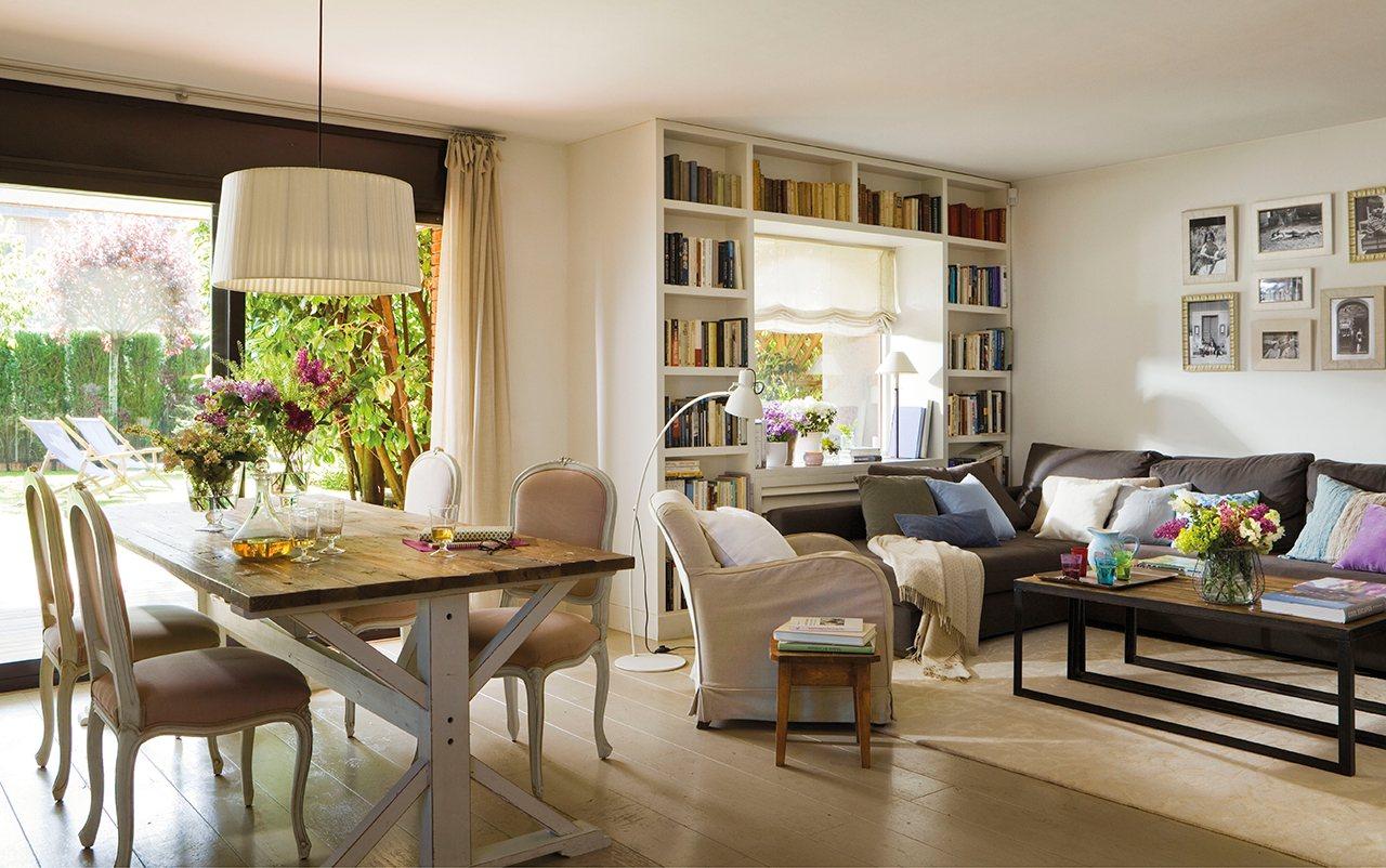 Una reforma que duplic los metros y la luz for El mueble salon comedor