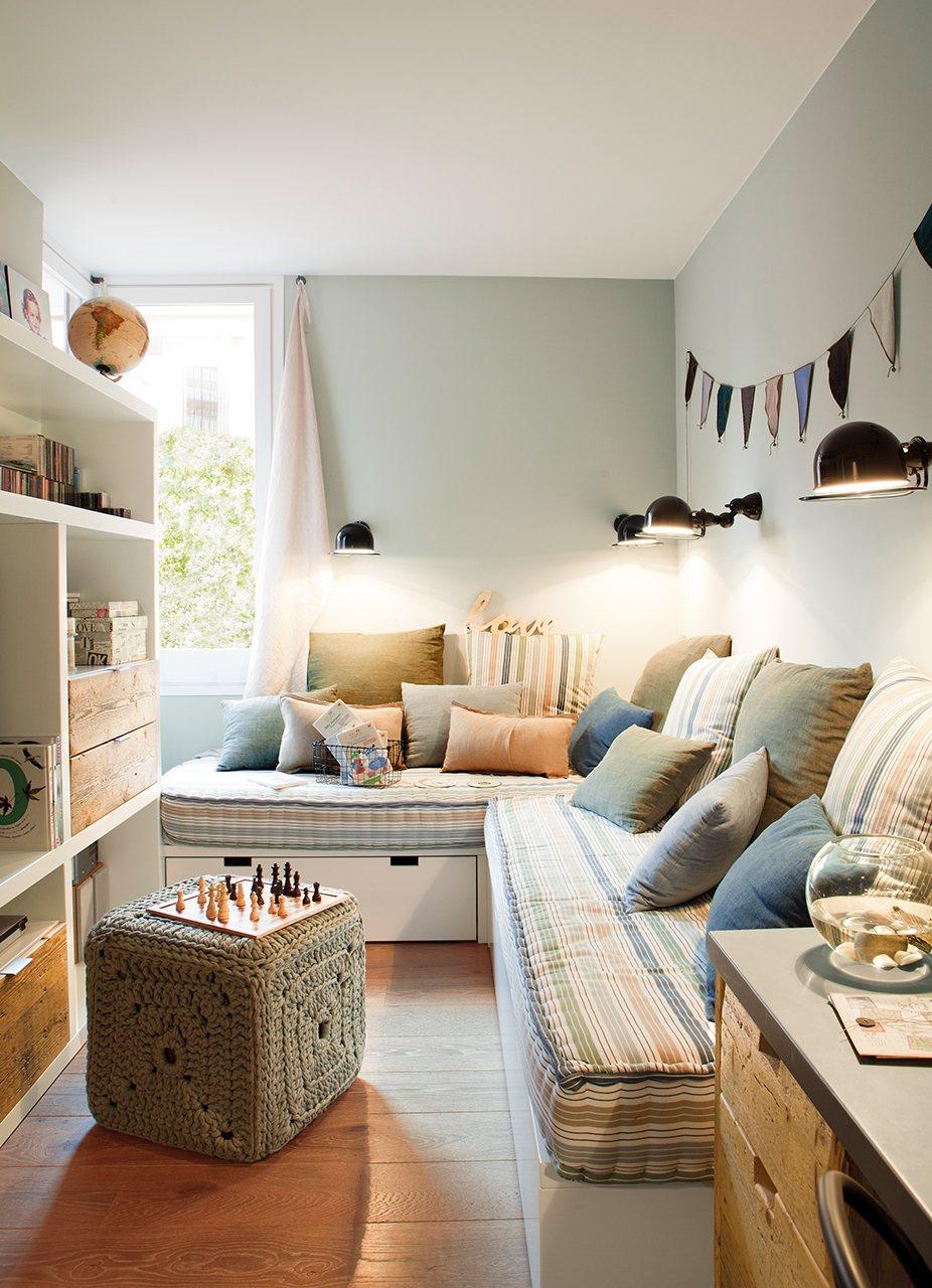 La reforma de un piso para ganar luz - Decoracion de salones colores ...