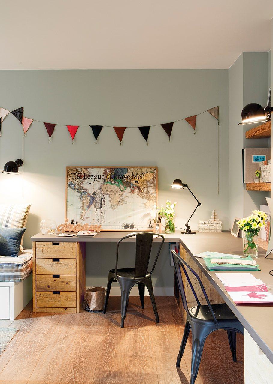 La reforma de un piso para ganar luz for Zona de estudio