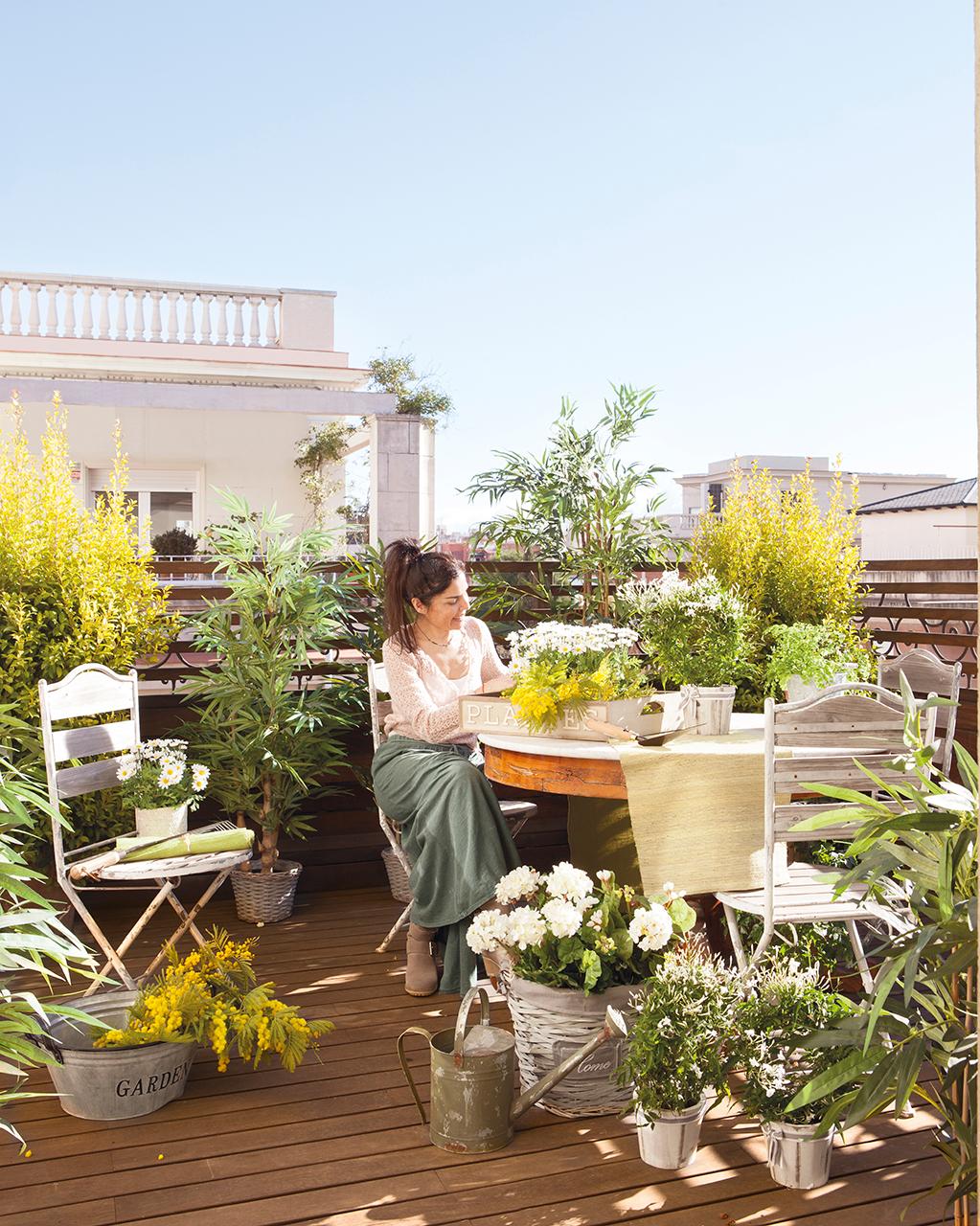 En estas 10 casas siempre es primavera - Plantas terraza ...