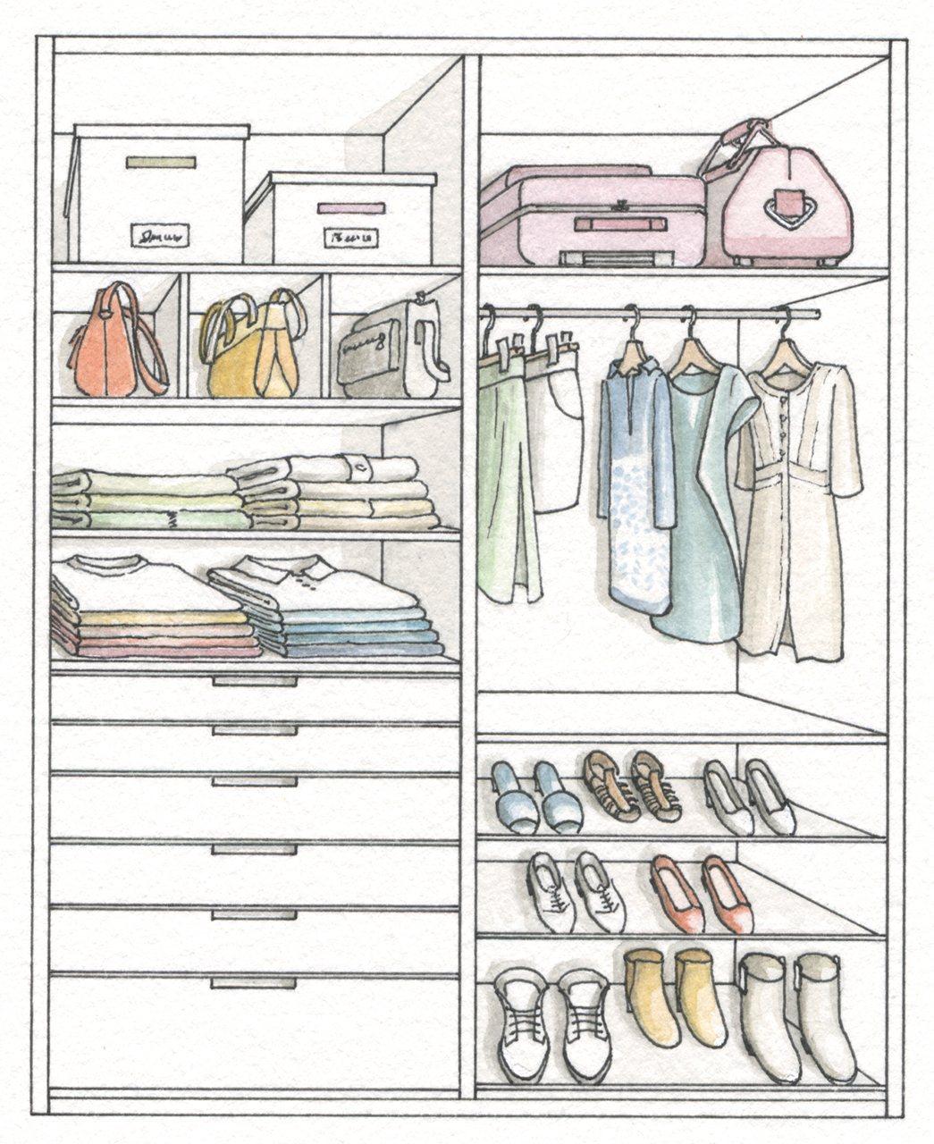 Armario ordena mejor y duplica el espacio for Dormitorio para dibujar facil