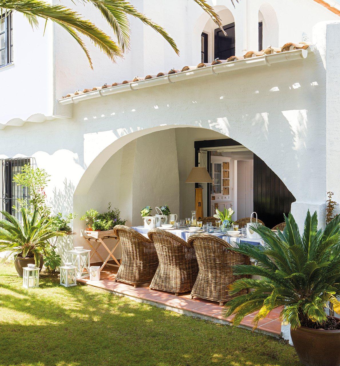 70 m2 en blanco ibicenco for Terrazas ibicencas