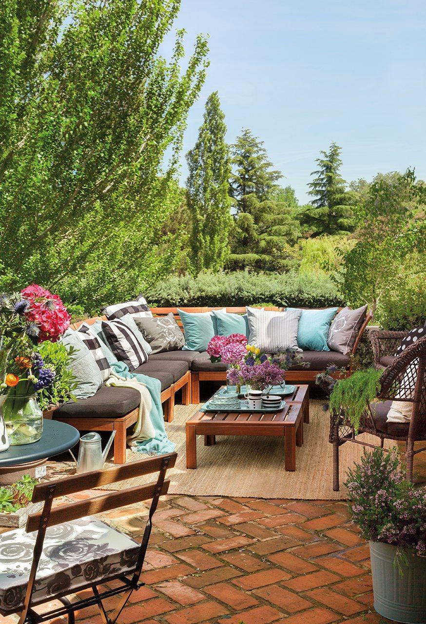 Porche terraza piscina vive el exterior - Alfombras para terrazas ...