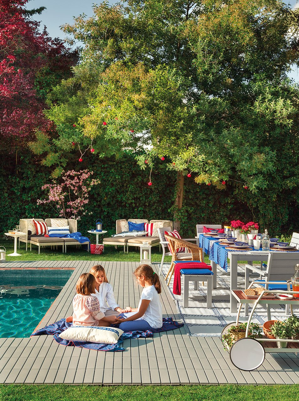Porche terraza piscina vive el exterior - Mesa de jardin ikea la rochelle ...