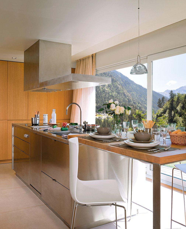Una cocina mirador de roble - Cocina roble ...
