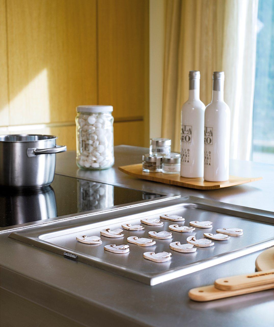 Una cocina mirador de roble - Plancha de cocina ...