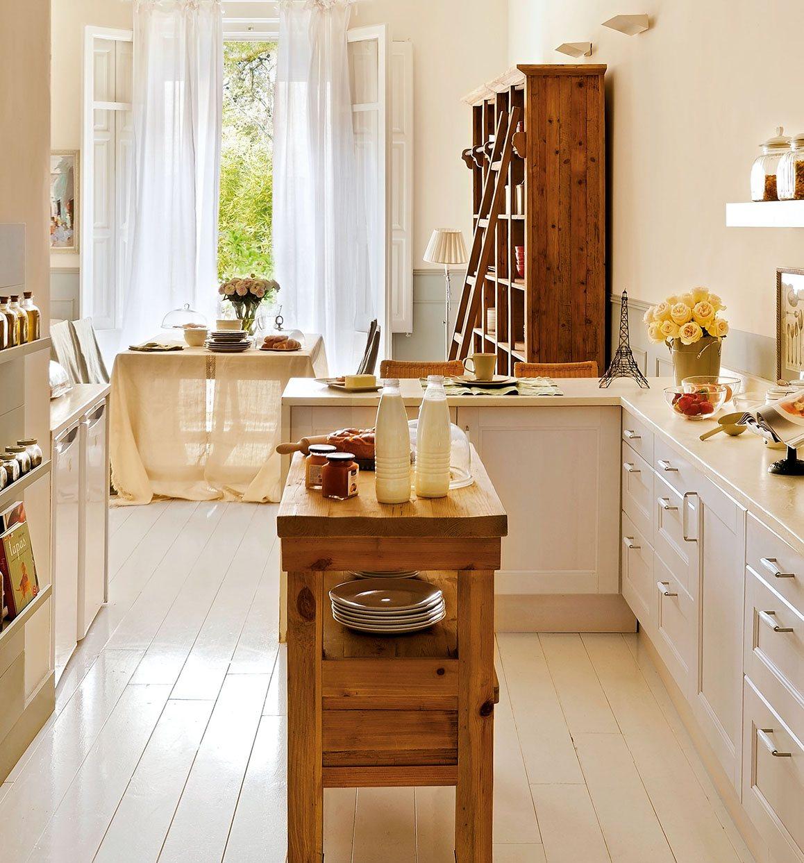 Gana espacio extra en casa for Isla de cocina con mesa