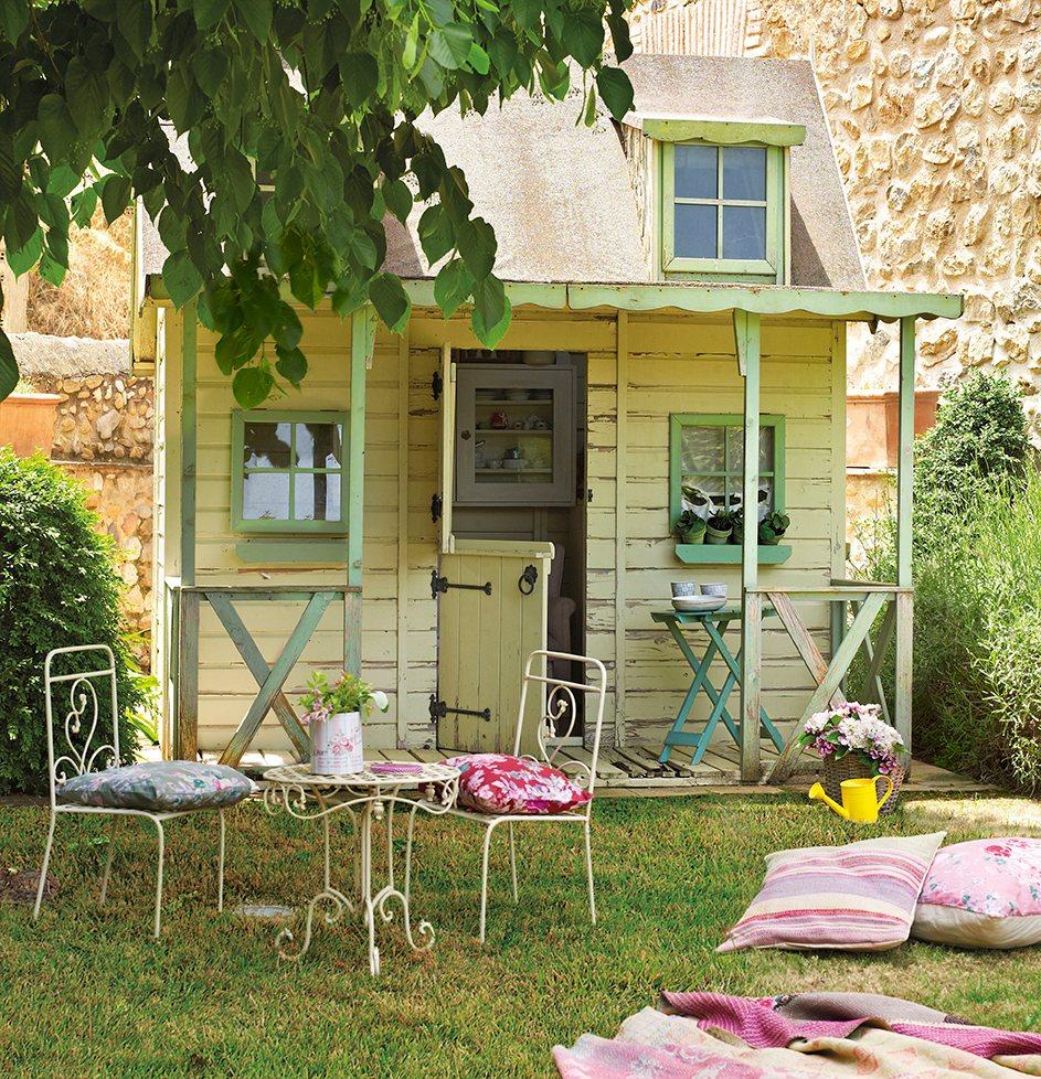 Aprovecha los ltimos d as de verano monta una fiesta for Casitas de jardin de madera