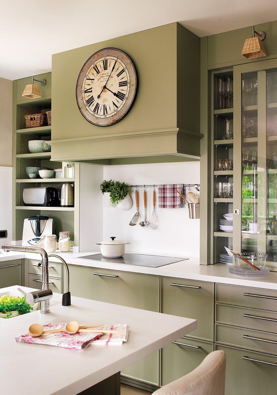 Organiza la cocina y tenlo todo a mano - Reloj de pared para cocina ...