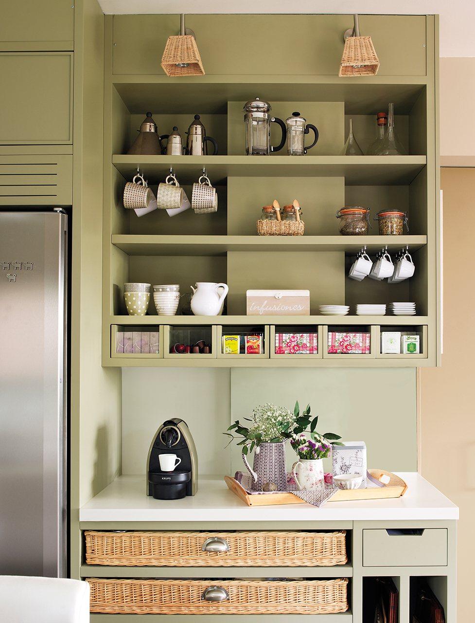 Organiza la cocina y tenlo todo a mano for Mueble pared cocina