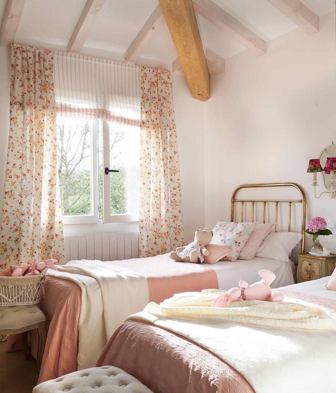 Cortinas habitacion infantil pared con estrellas vinilo - Cortinas dormitorio infantil ...