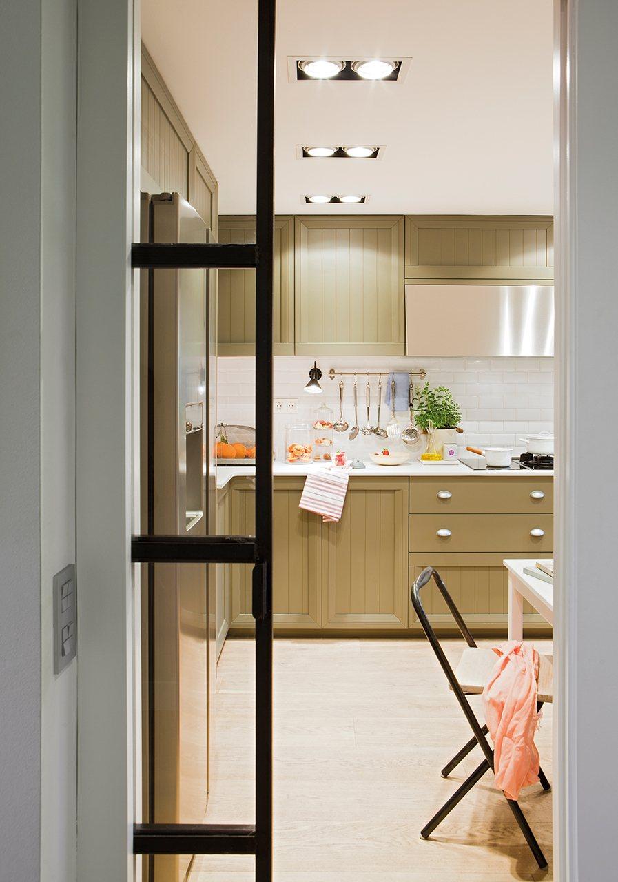 Puerta cristal cocina cocina puertas correderas de cristal para cocinas cocina amplia con - Puerta cristal cocina ...