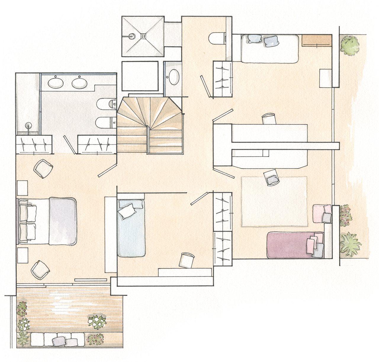 Un d plex reformado con presupuesto detallado for Distribucion de una casa de una planta