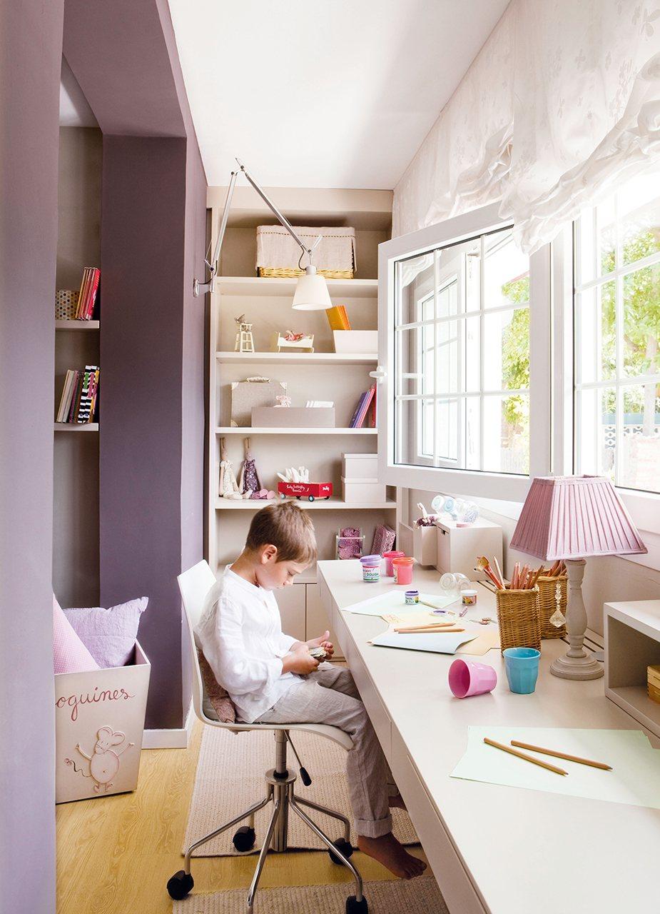 Дизайн большой детской комнаты для двоих детей фото