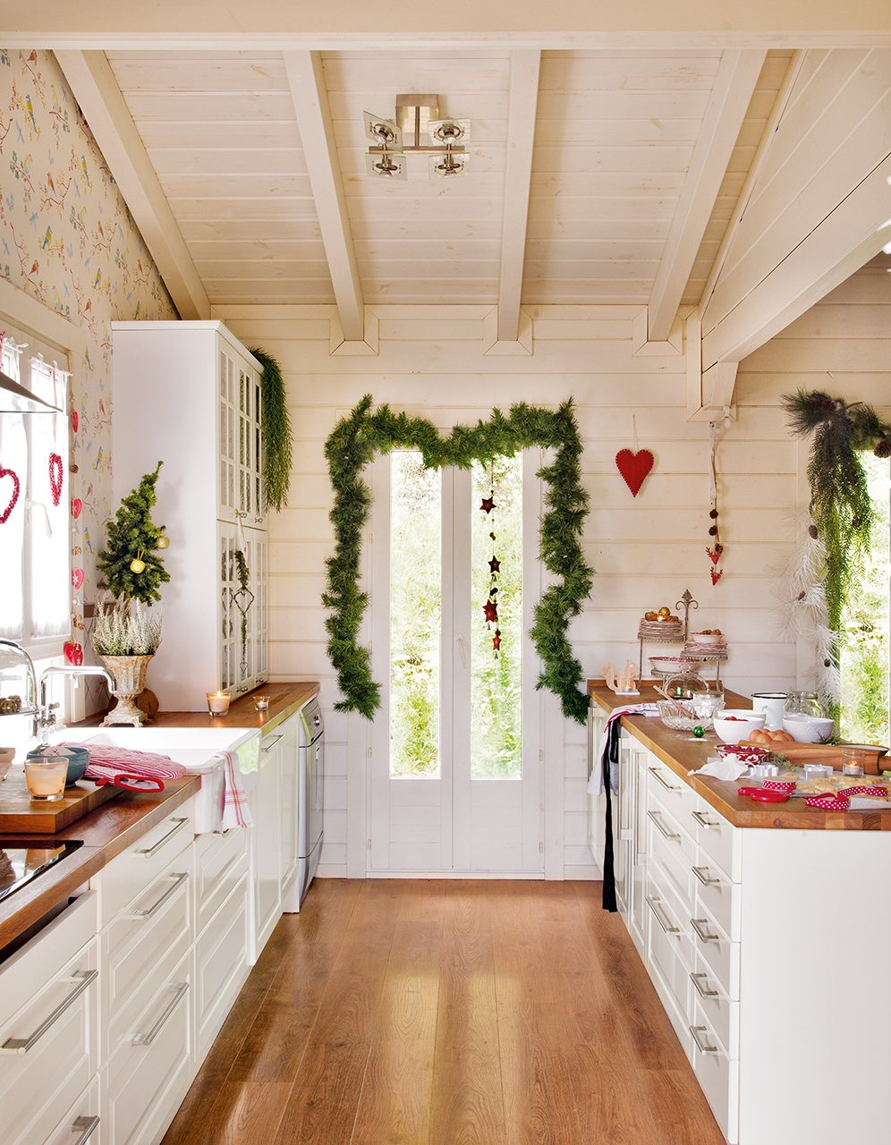 En esta cocina se cuece una navidad deliciosa - Papel pared cocina ...