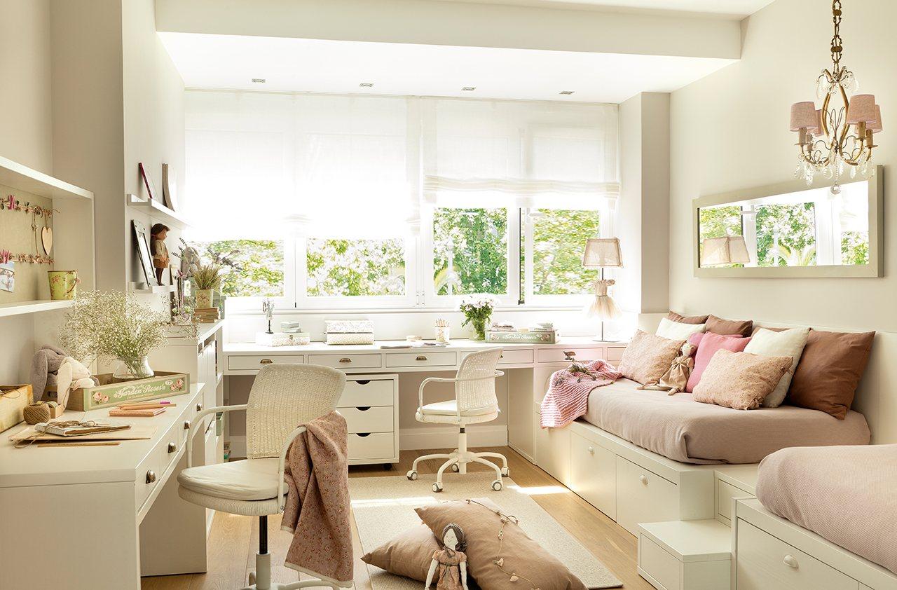 Una suite de princesas con ba o estudio y vestidor - Dormitorios juveniles el mueble ...