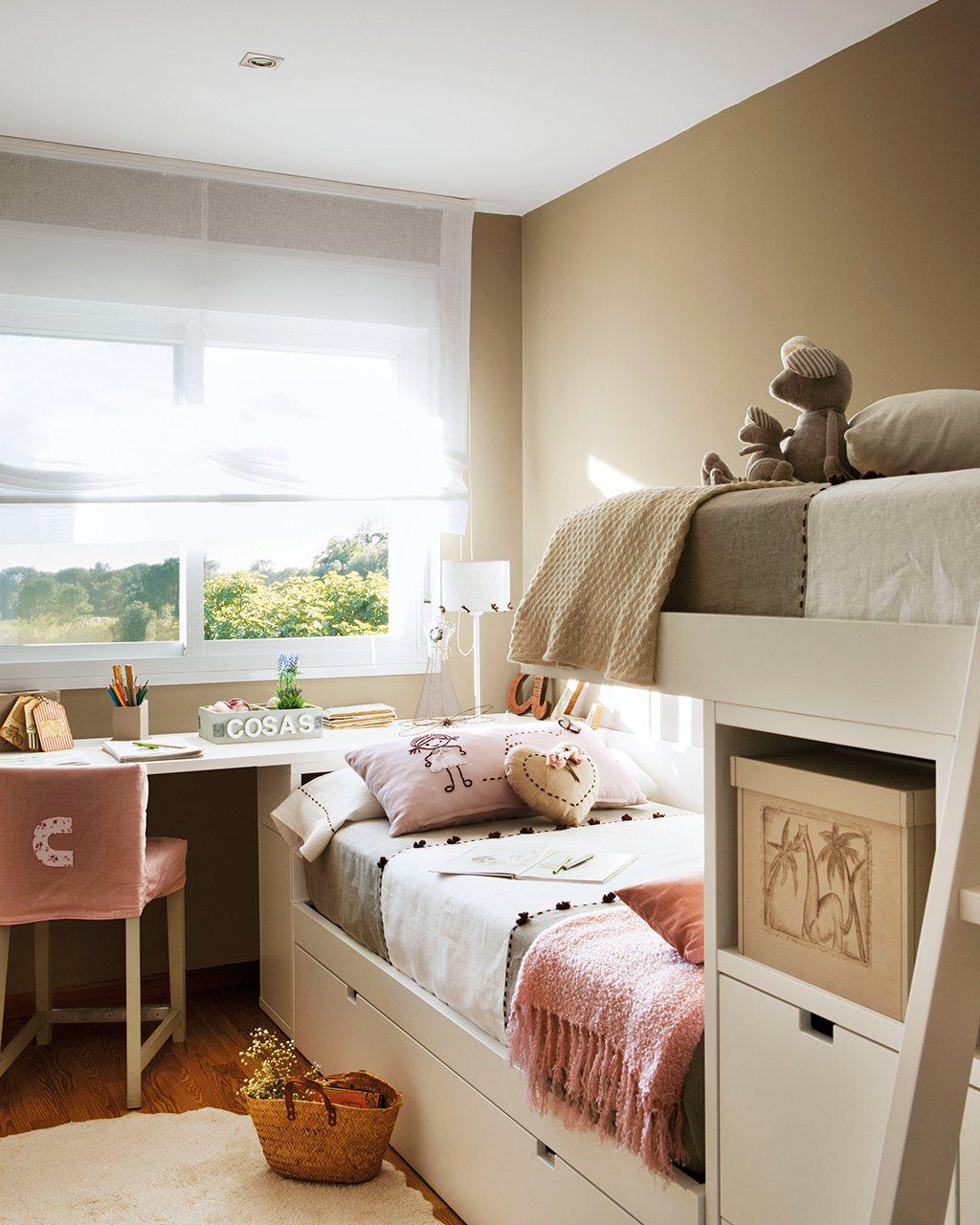 Ideas para ganar metros y ampliar visualmente pisos peque os - Dormitorios infantiles pequenos ...