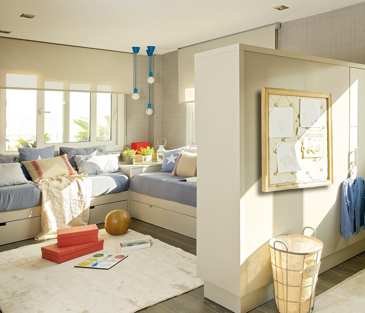 Tres dormitorios para dos crecer y compartir - Dormitorios infantiles para dos ...