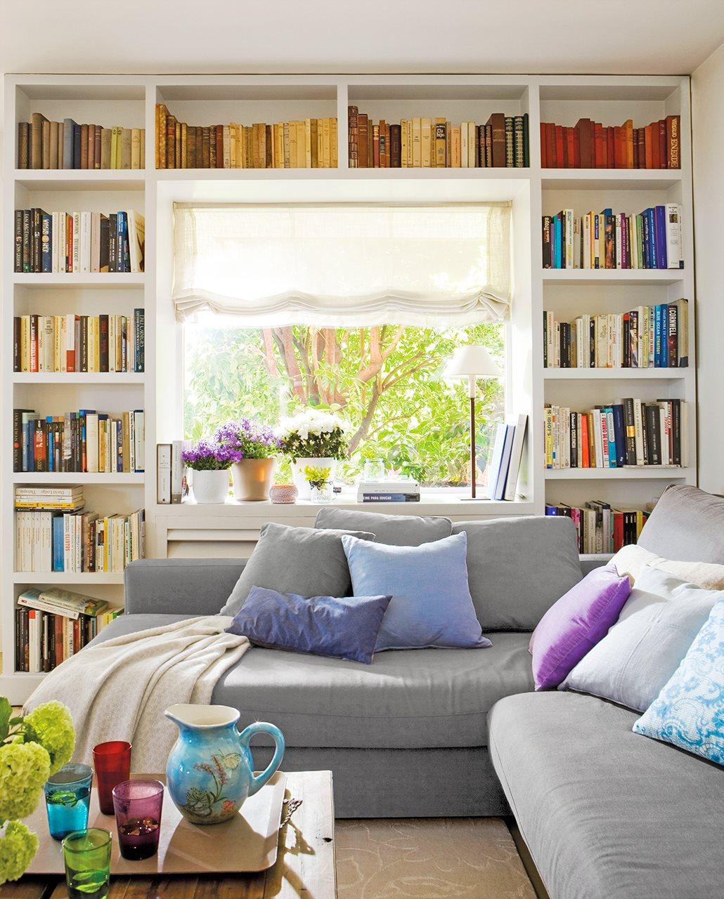 14 ideas para sacar sitio extra en casa Librerias de pared