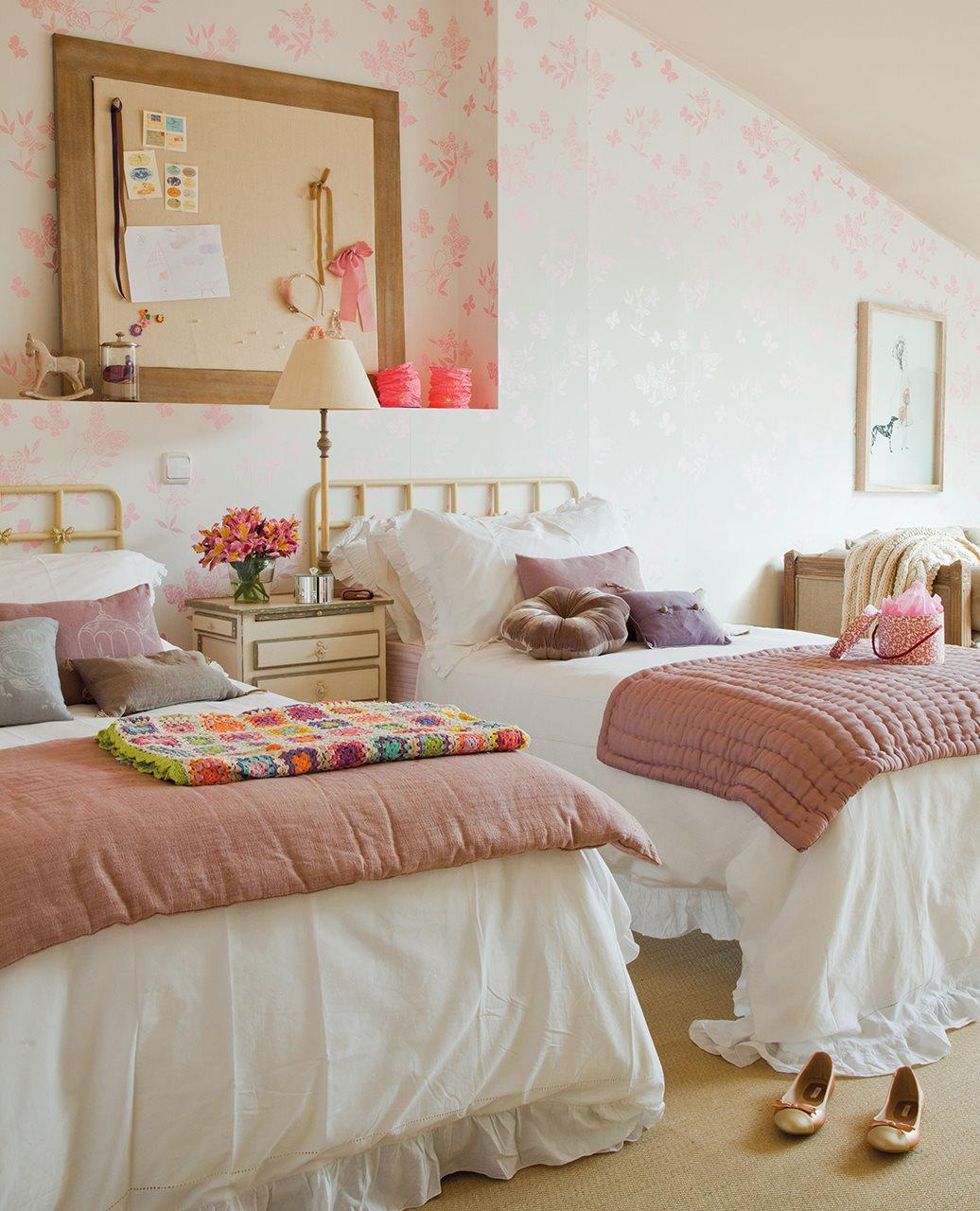 Dormitorio juvenil con dos camas cuartos con dos camas - Habitaciones de dos camas juveniles ...
