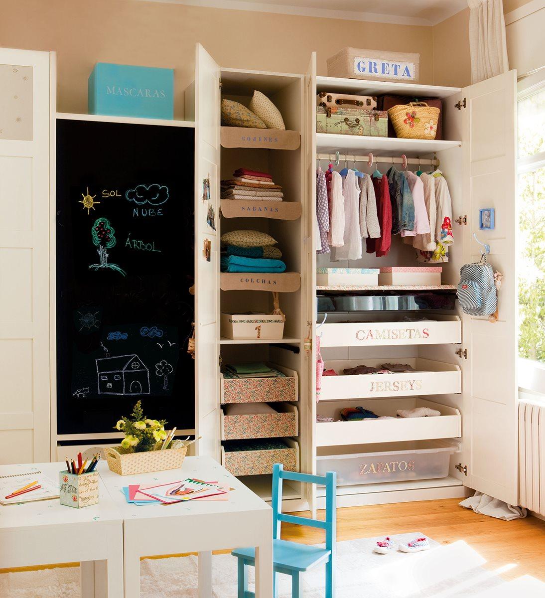 C mo ordenar el armario de los ni os - Cajones guarda juguetes ...