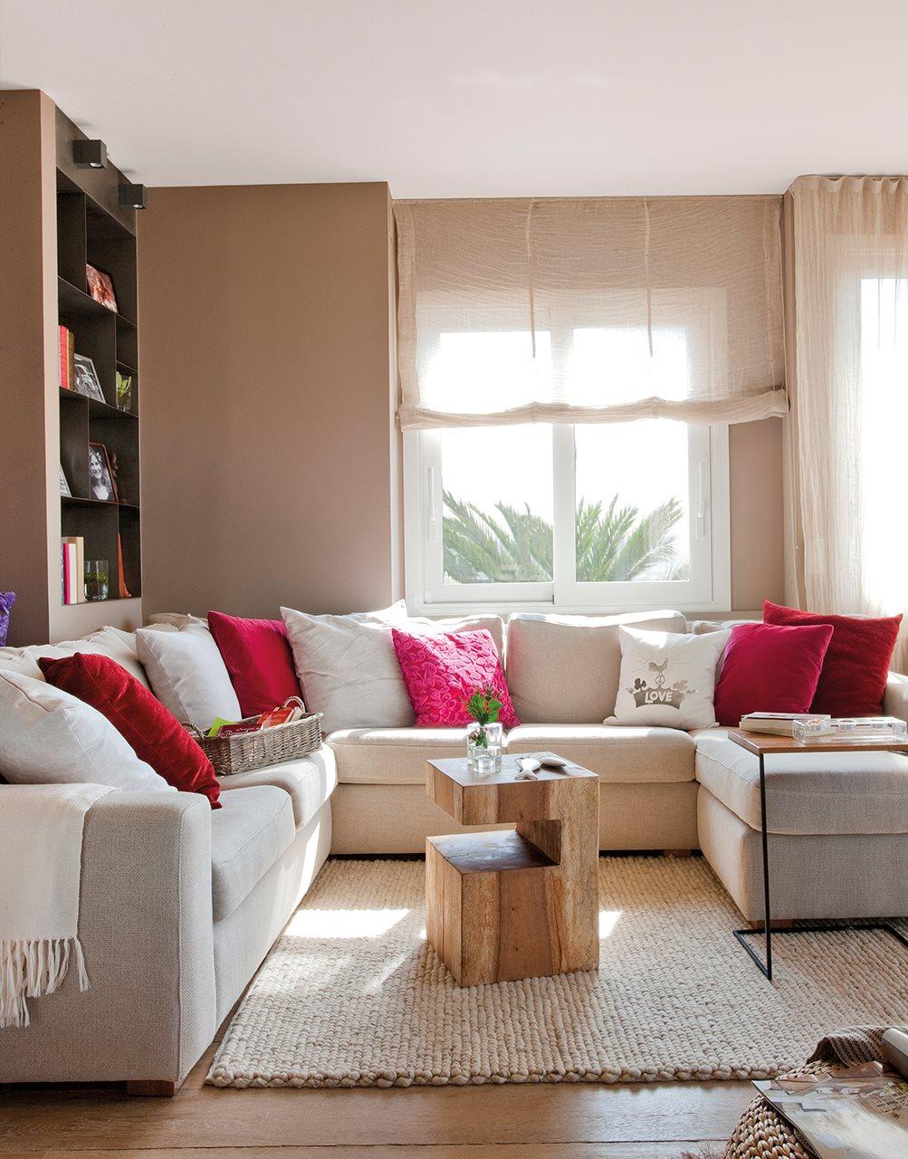 10 salones peque os muy bien decorados - Sofa para salon ...