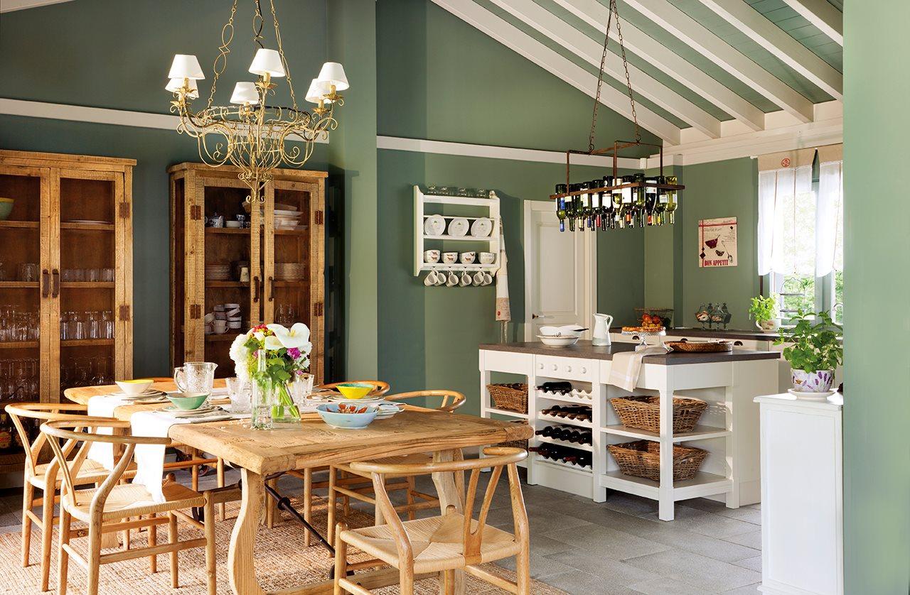 Atractivo Paredes De La Cocina De Color Verde Cresta - Ideas Del ...