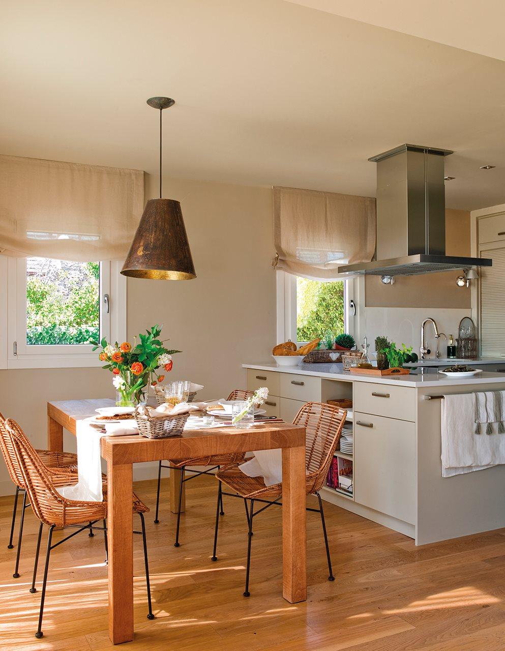 Parquet cocina la tarima flotante en la cocina pros y for Cocinas con parquet