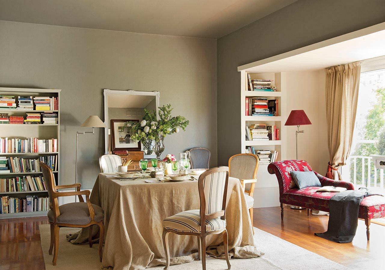 20 ideas para renovar tu casa a todo color for Color gris verdoso paredes