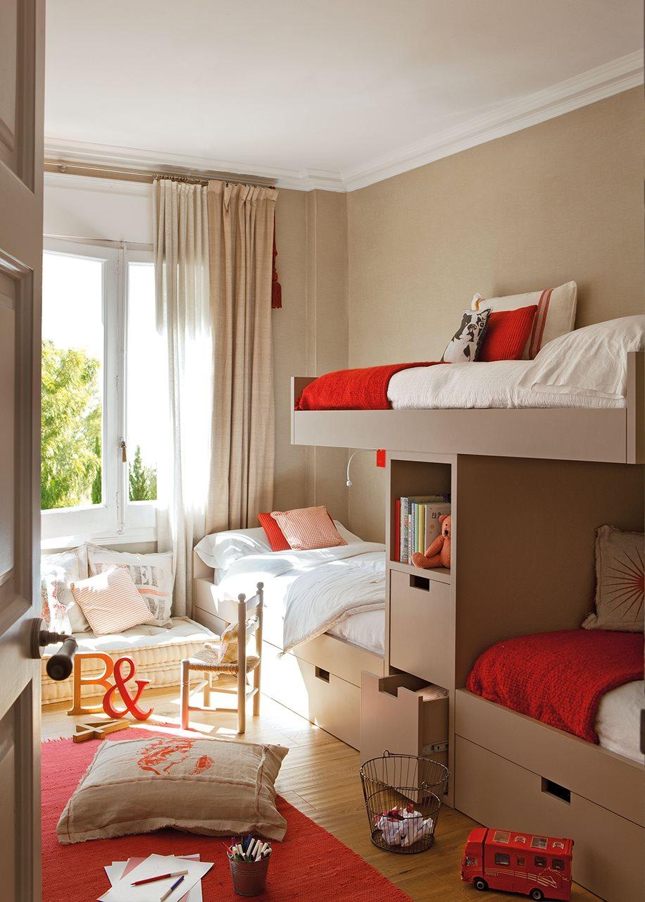 Ideas para pintar la habitaci n de los ni os - Paredes pintadas de dos colores ...
