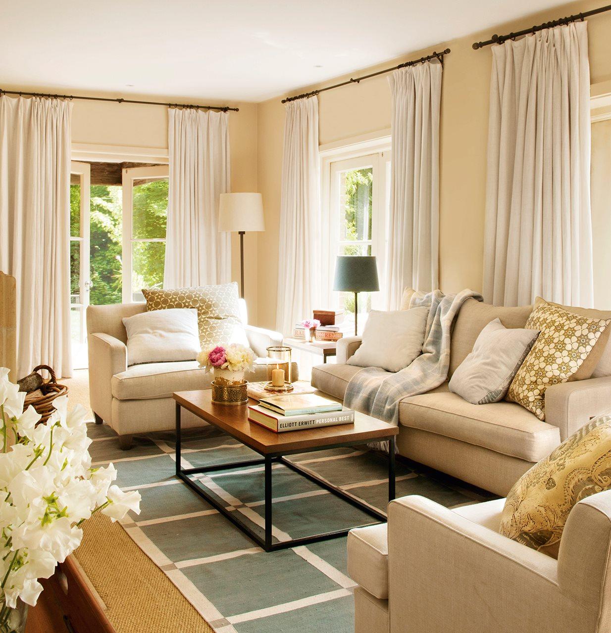 Una cortina para cada ventana - Estores con caidas ...