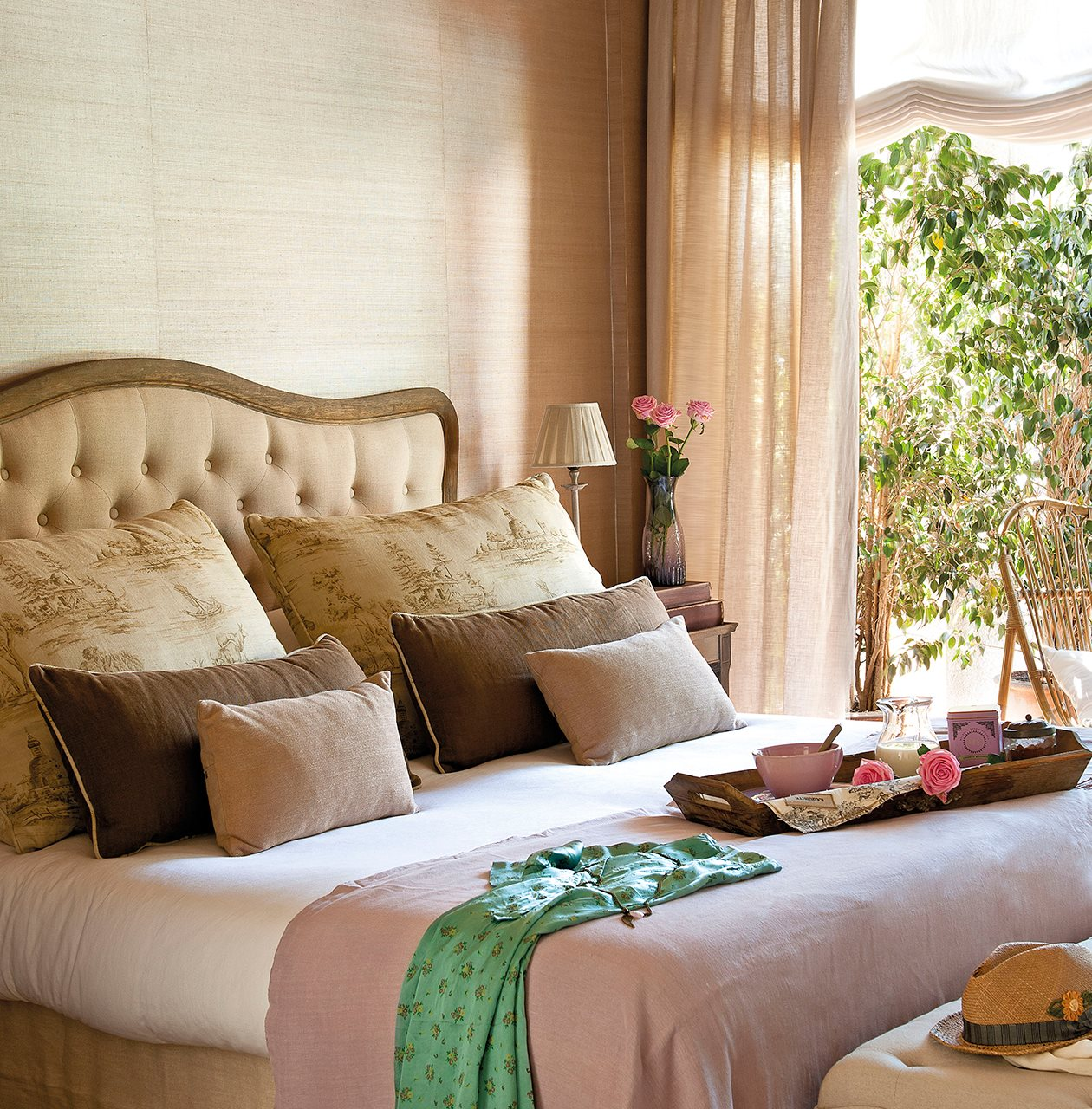 Cabeceros de cama romanticos cabecero de cama tapizado - Cabeceros tapizados capitone ...