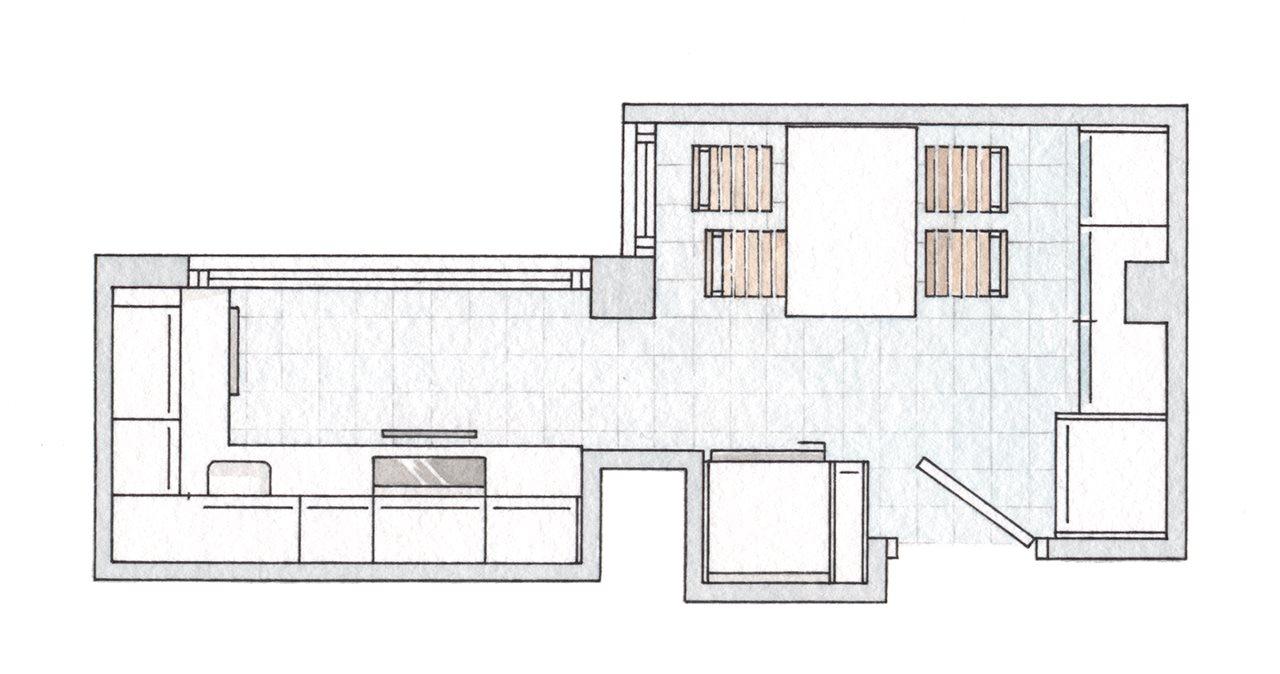 Una cocina muy peque a reformada con buenas ideas for Cocinas lineales de cuatro metros