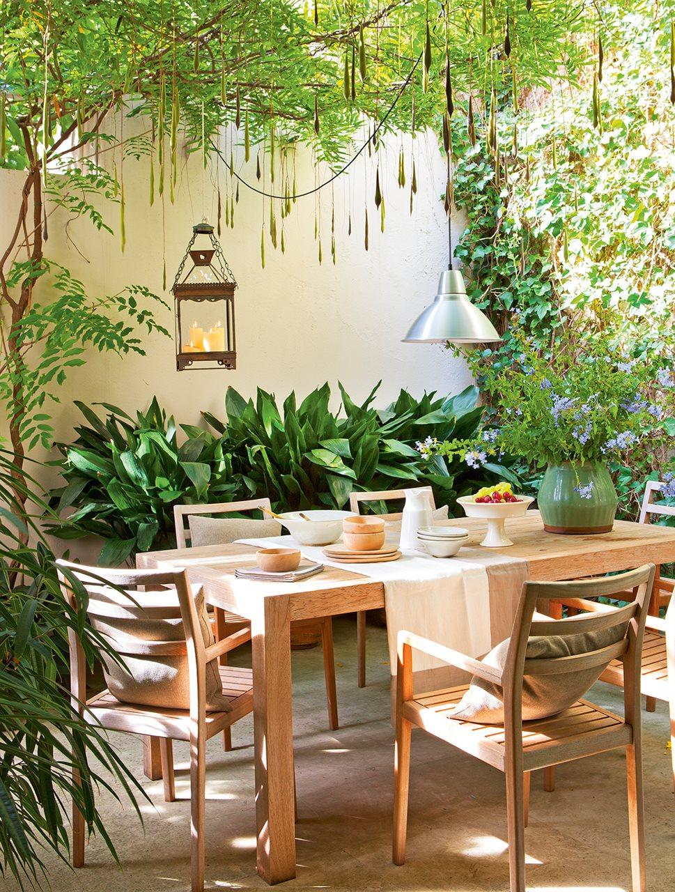 Ideas para decorar un patio interior for Patios con plantas