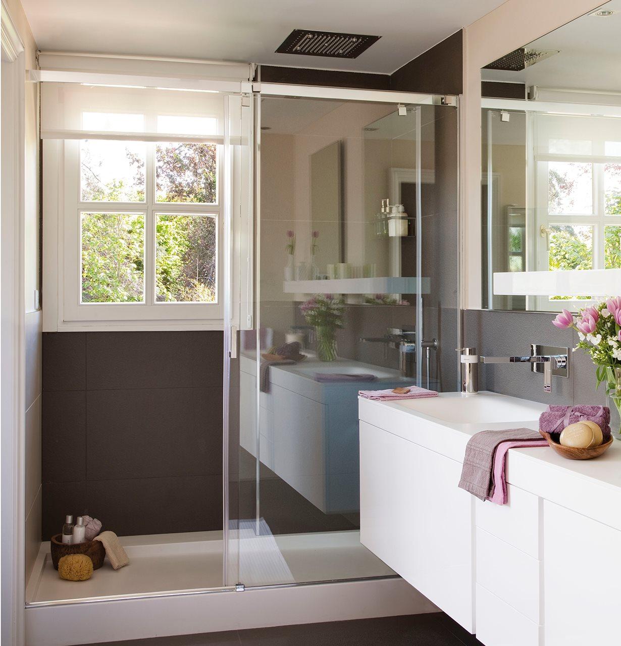 Una ducha peque a hazla c moda for Baneras pequenas medidas